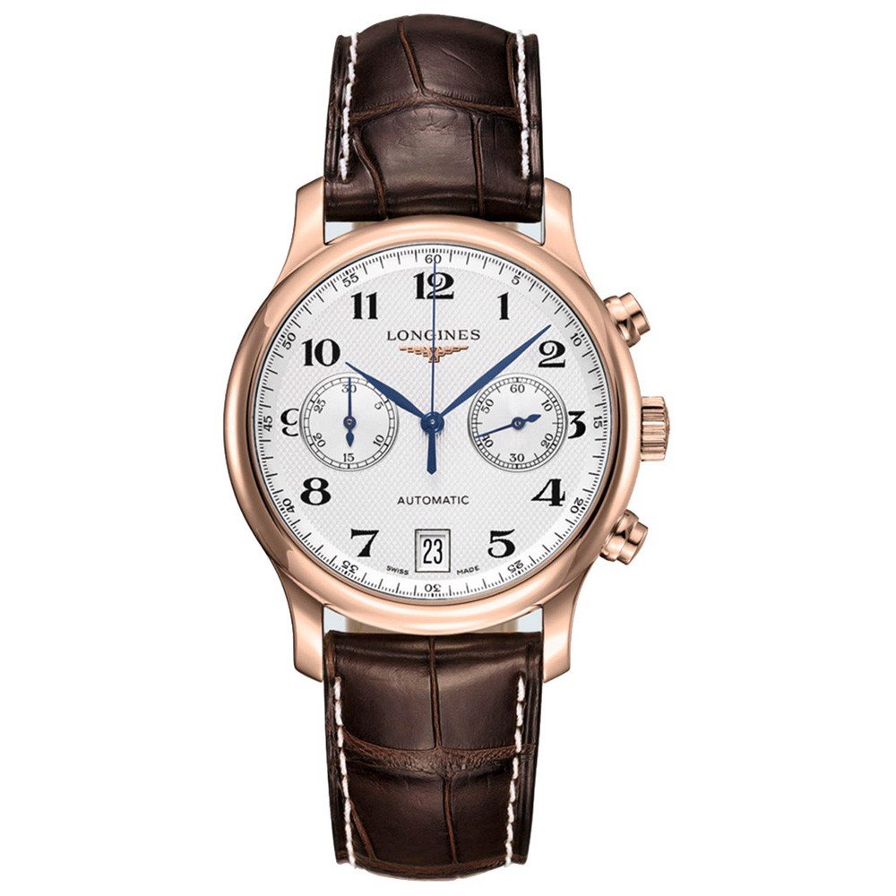 Đồng hồ nam Longines Master Chronograph 18k Rose Gold Watch 38.5mm