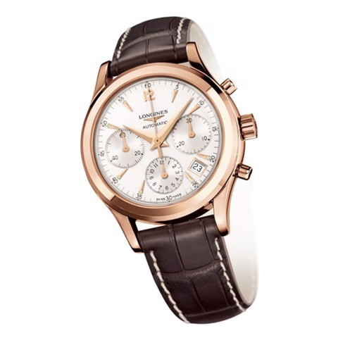 Đồng hồ nam Longines Heritage Automatic 18k Rose Gold Watch 39mm