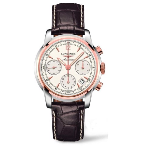 Đồng hồ nam Longines Saint Imier Chronograph 18k Rose Gold Watch 39mm