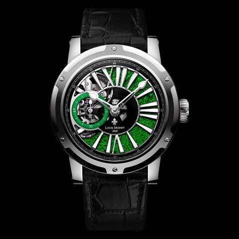 Đồng hồ nam Louis Moinet Metropolis Steel Magic Green 43.2mm