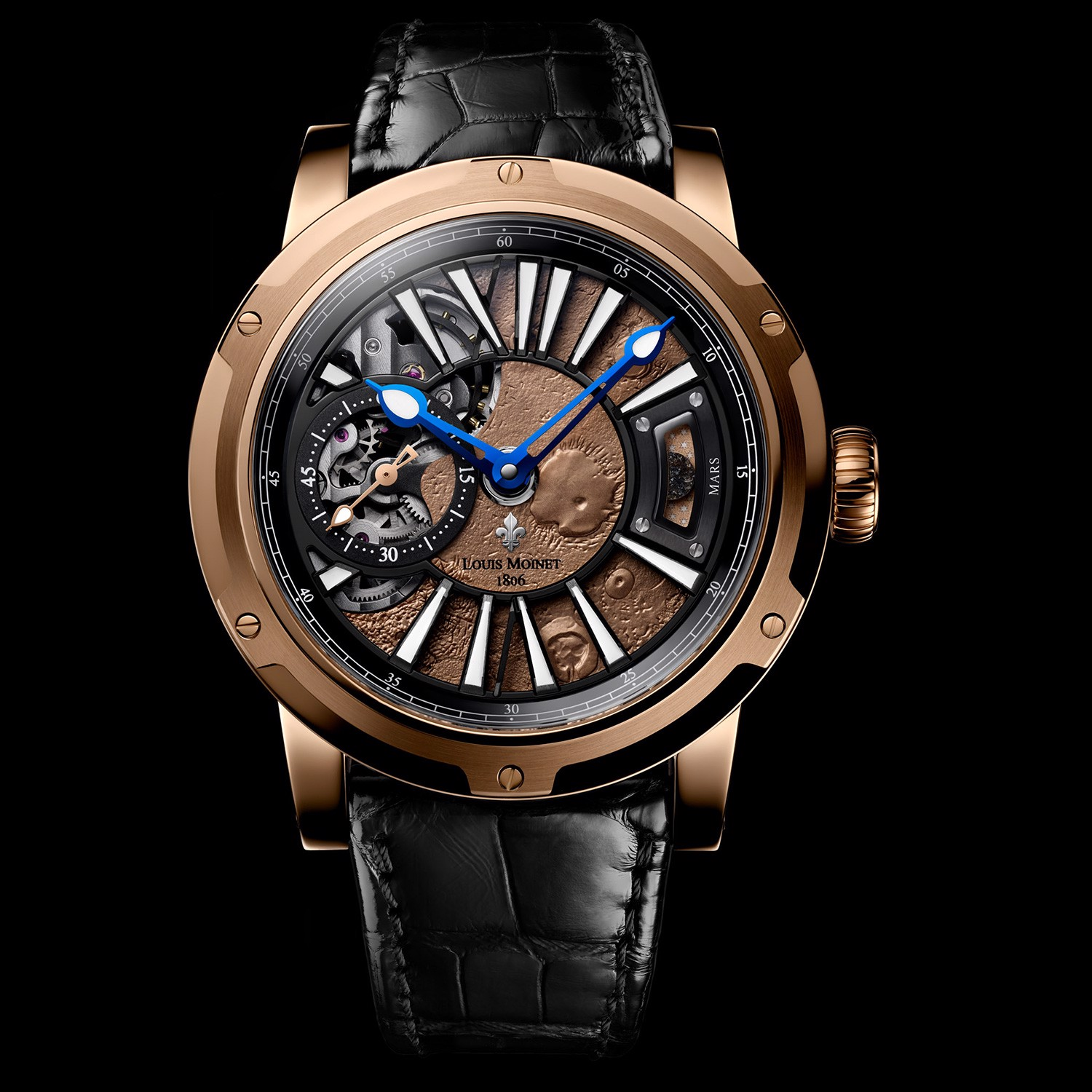 Louis Moinet Mars Rose Gold Limited Edition 43mm