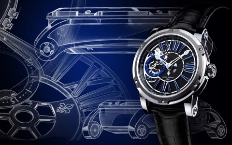 Đồng hồ nam Louis Moinet Metropolis Steel Blue Indexes 43.2mm