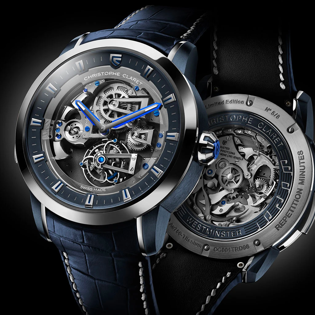 Christophe Claret Soprano Tourbillon Minute Repeater White Gold Blue