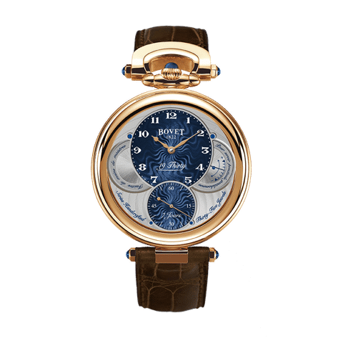 Đồng hồ nam Bovet 19Thirty Fleurier Blue Dial 18k Red Gold 42mm