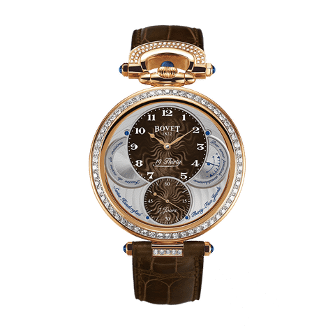 Đồng hồ nam Bovet 19Thirty Fleurier Brown Dial 18k Red Gold set with diamonds 42mm