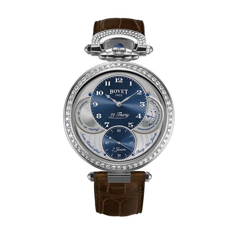 Đồng hồ nam Bovet 19Thirty Fleurier Blue Dial set with Diamonds 42mm