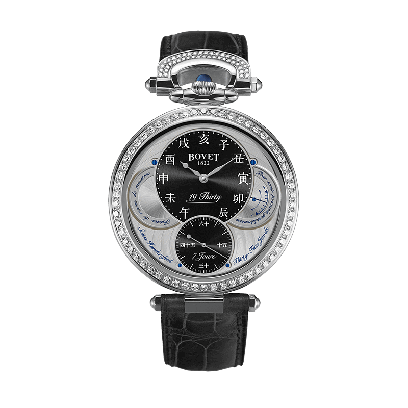 Đồng hồ nam Bovet 19Thirty Fleurier Black Dial set with Diamonds 42mm