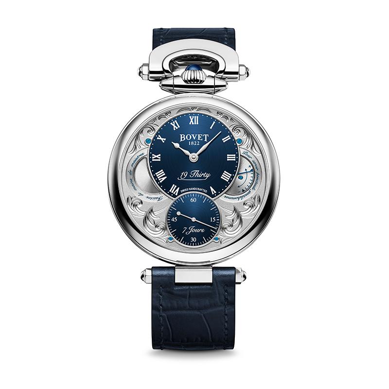 Bovet 19Thirty Fleurier Hand-engraved Blue Dial 42mm