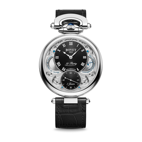 Bovet 19Thirty Fleurier Hand-engraved Black Dial 42mm