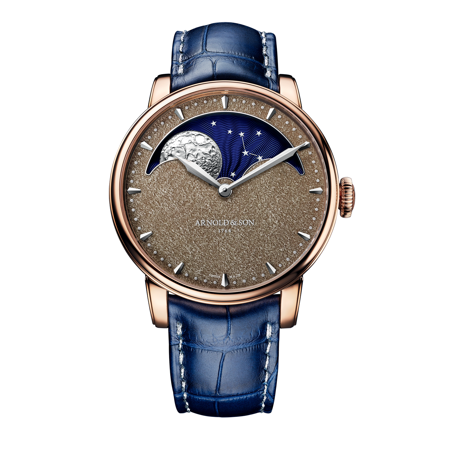 Arnold & Son Royal HM Perpetual Moon Obsidian Rose Gold