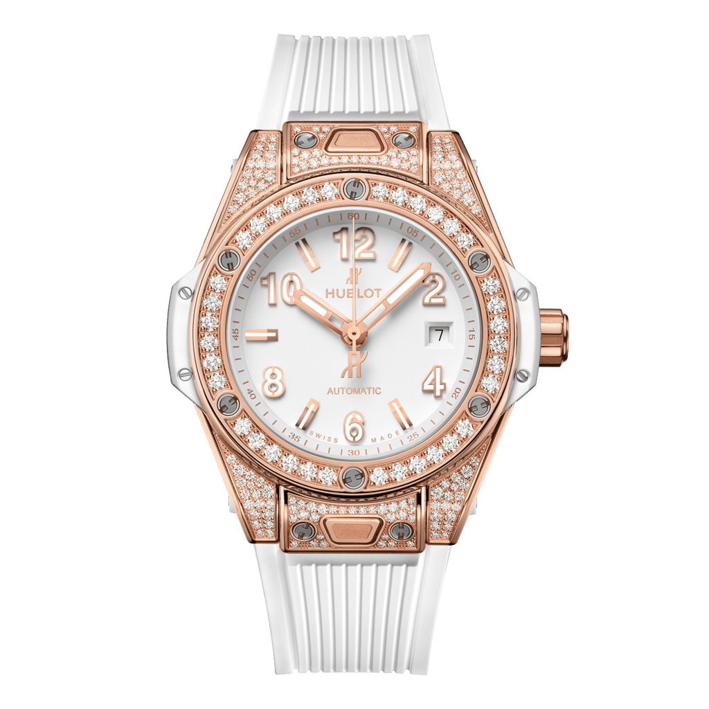 Hublot Big Bang One Click King Gold White Pavé 33mm