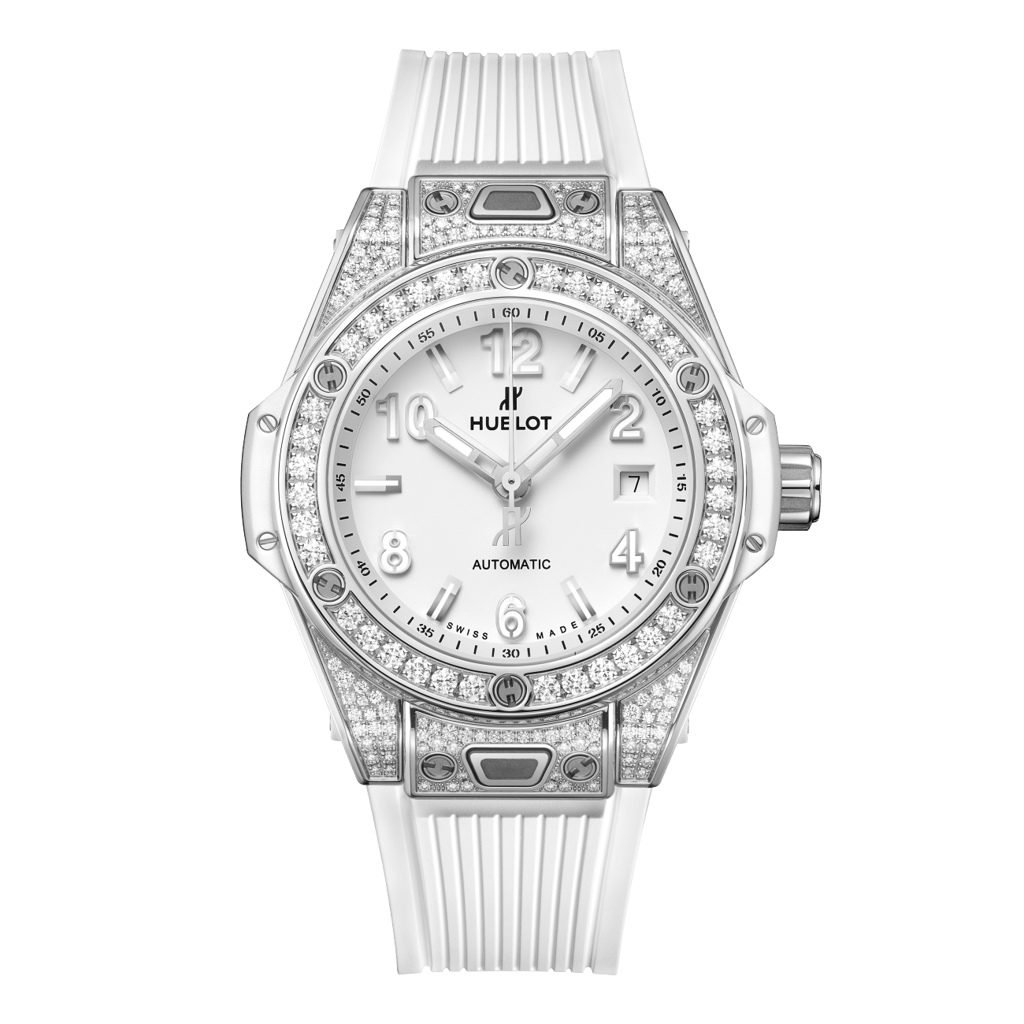 Hublot Big Bang One Click Steel White Pavé 33mm