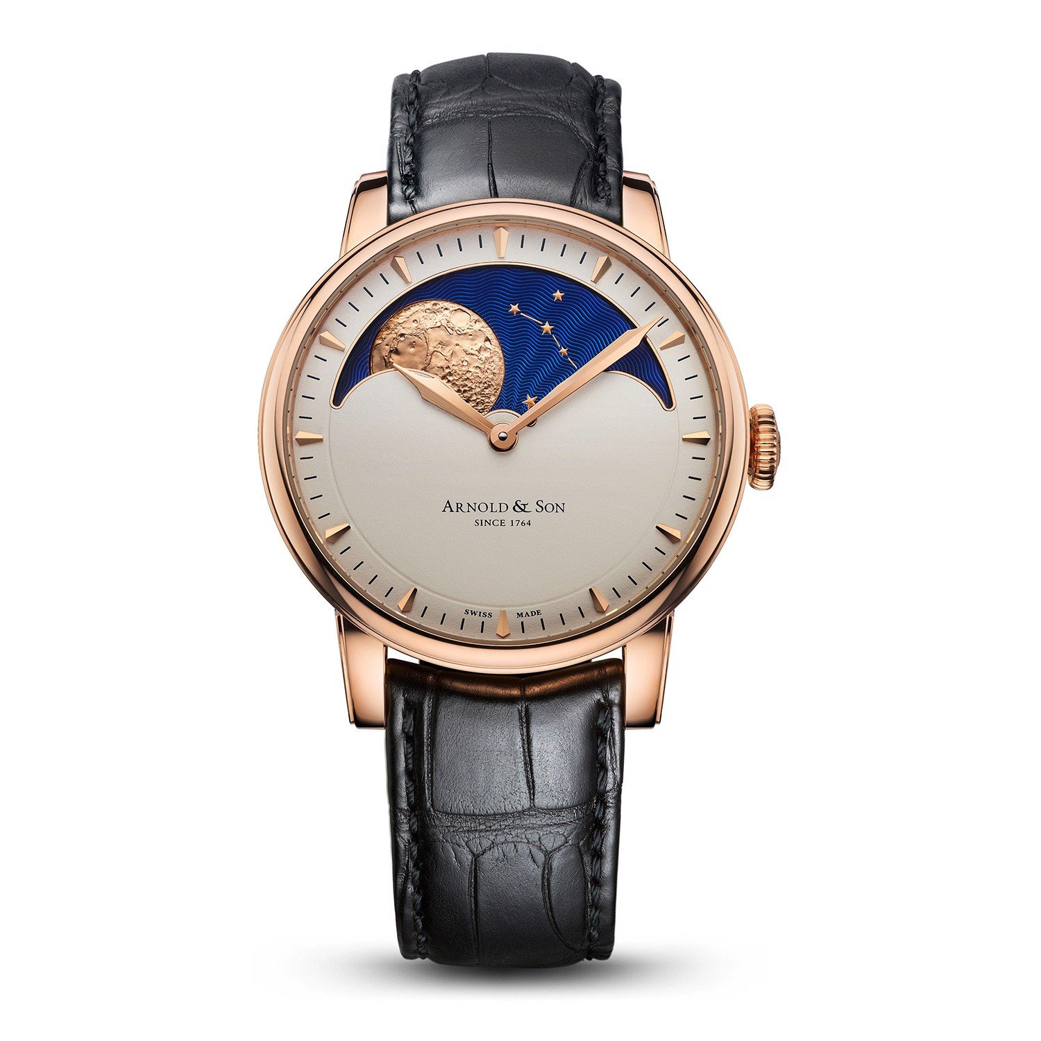 Arnold & Son Royal HM Perpetual Moon Rose Gold Cream Dial