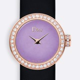 Đồng hồ nữ La D de Dior Mini Rose Gold Purple Dial Ø 19mm