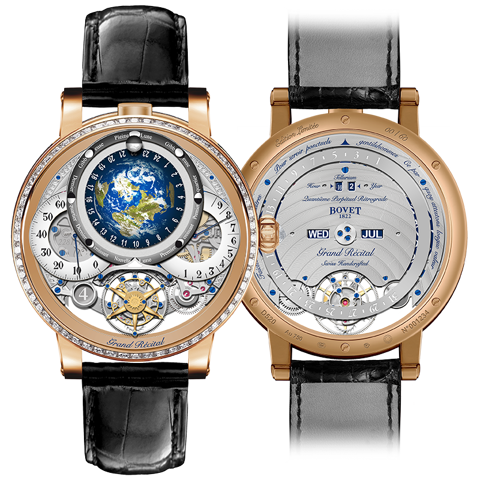Bovet Récital 22 Grand Récital Rose Gold Set with Diamonds 46.3mm