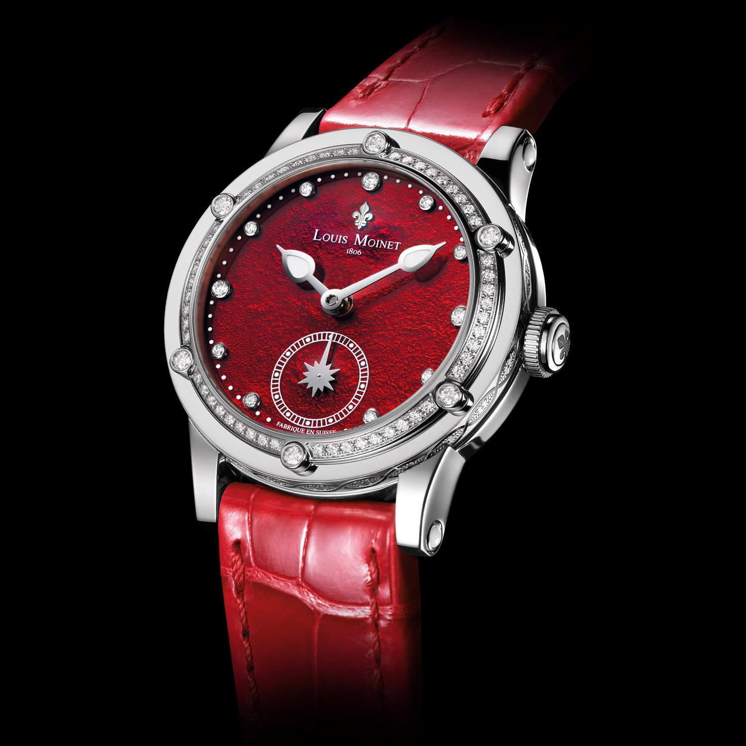Đồng hồ nữ Louis Moinet Skydance Magic Red Bezel set with Diamonds 36mm