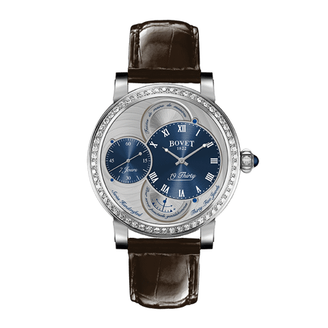 Đồng hồ nam Bovet 19Thirty Dimier Blue Dial set with Diamonds 42mm