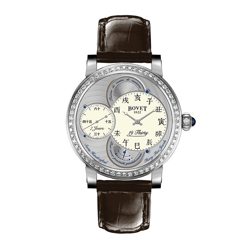 Đồng hồ nam Bovet 19Thirty Dimier White Dial set with Diamonds 42mm
