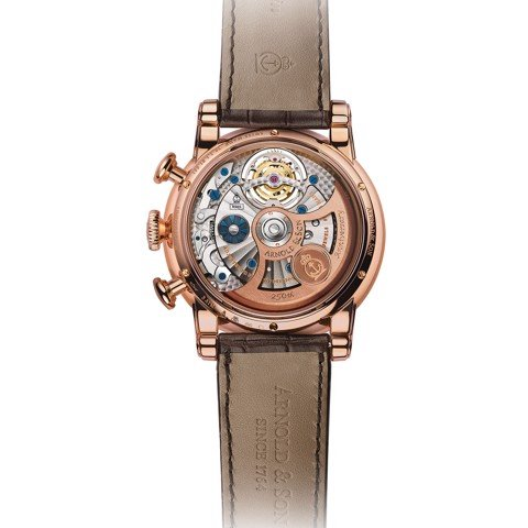 Arnold & Son Royal TEC1 Tourbillon Rose Gold Blue Dial