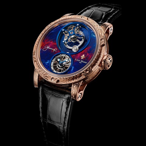 Đồng hồ nam Louis Moinet Spacewalker Rose gold engraved 47.4mm