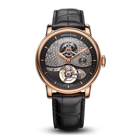Arnold & Son Royal TE8 Métiers D'art I Tourbillon Rose Gold