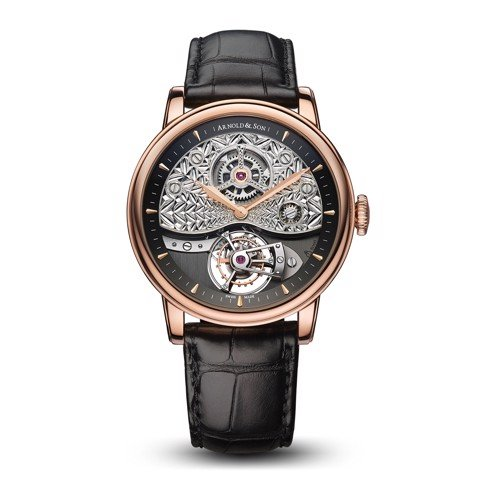 Arnold & Son Royal TE8 Métiers D'art II Tourbillon Rose Gold