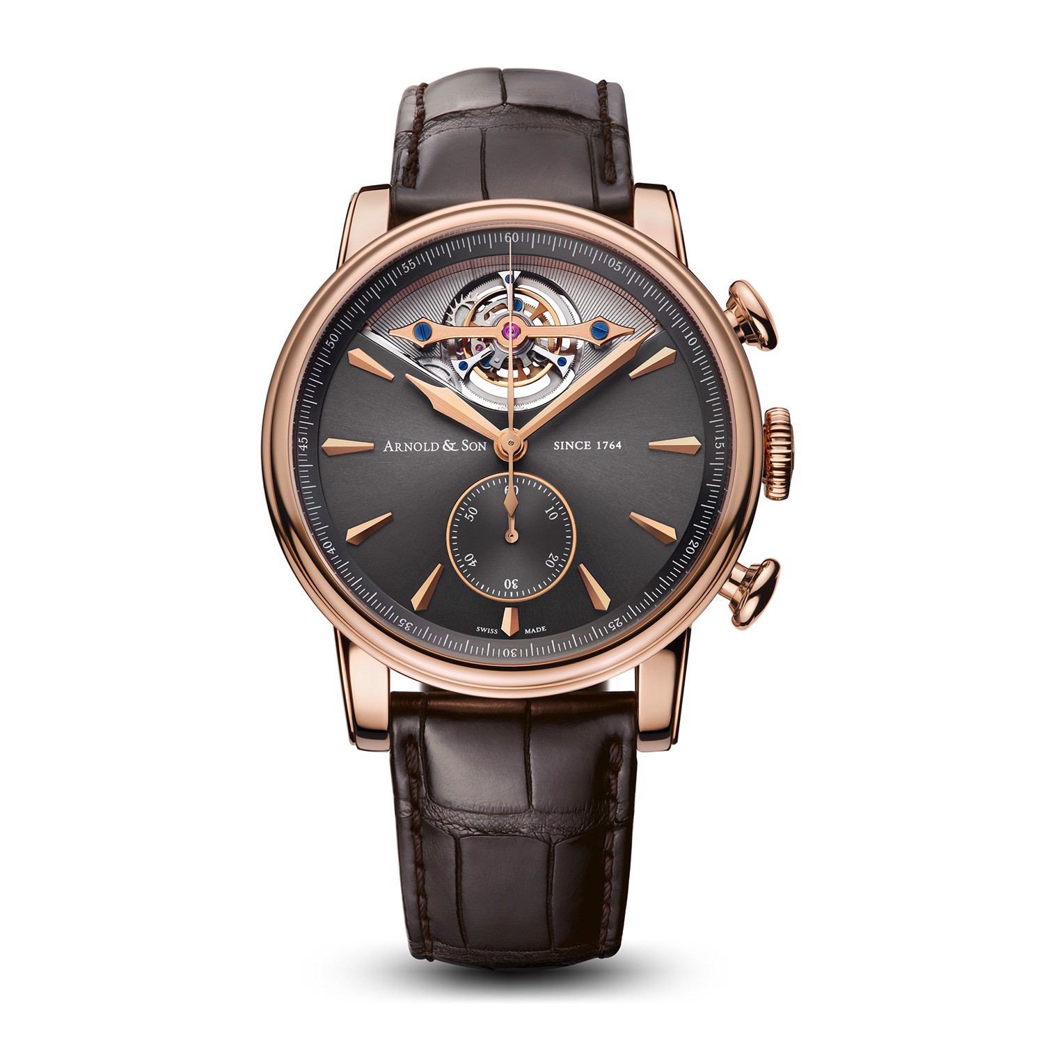 Arnold & Son Royal TEC1 Tourbillon Rose Gold Grey Dial