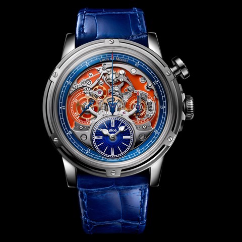 Đồng hồ nam Louis Moinet Memoris Titanium Orange 46mm