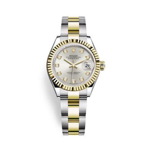 Rolex Lady-Datejust 28mm Stainless Steel and Yellow Gold 279173-0008