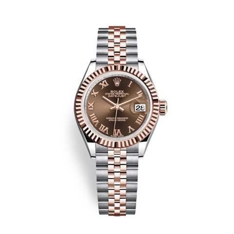 Rolex Lady-Datejust 28mm Stainless Steel and Everose Gold 279171-0009