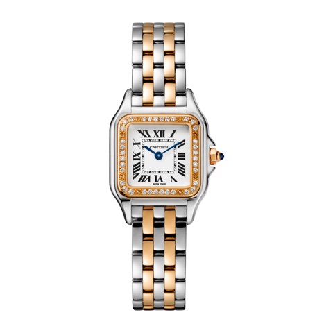 Cartier Panthère de Cartier Small Model Pink Gold And Steel Diamonds