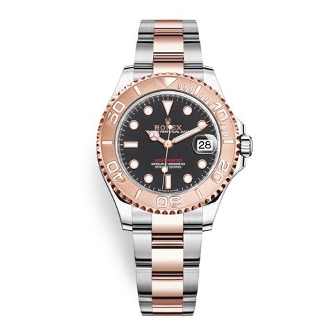 Rolex Yacht-Master 37mm Stainless Steel & Rose Gold Black 268621-0004