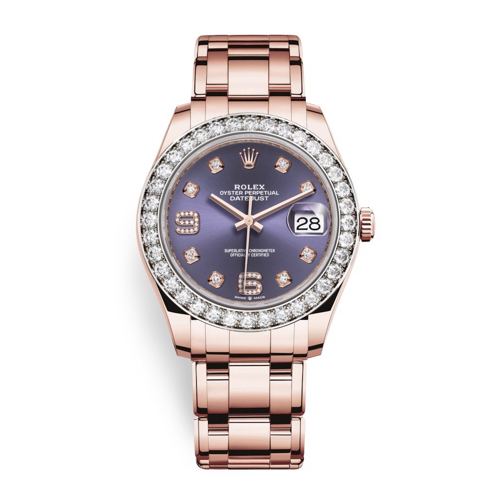 Rolex Pearlmaster 39mm Everose Diamond  86285 AUBD