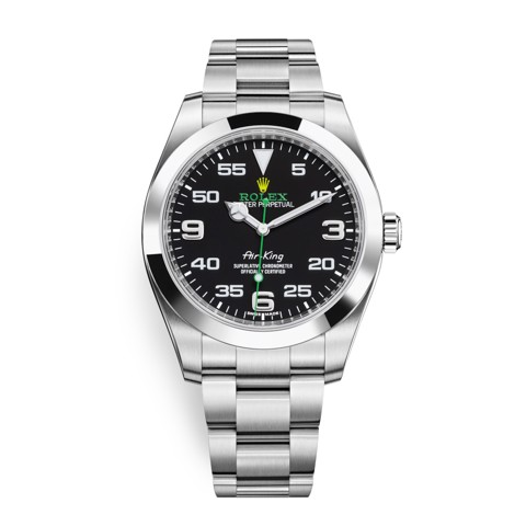 Rolex Air King Stainless Steel Black 116900-0001