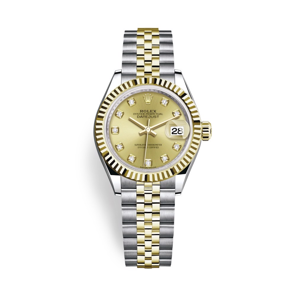 Rolex Lady-Datejust 28mm Stainless Steel and Yellow Gold 279173-0011