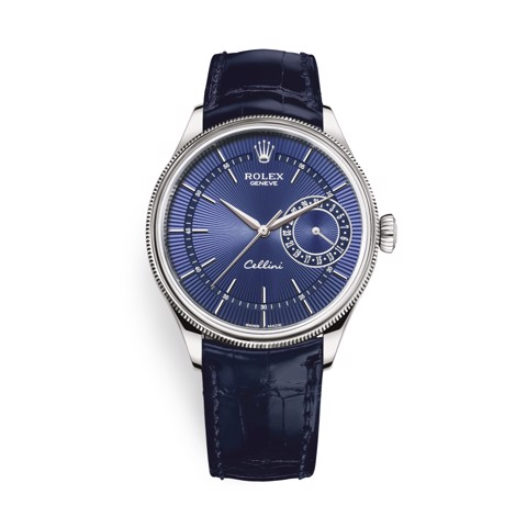 Rolex Cellini Date 39mm White Gold Blue Blue 50519-0011