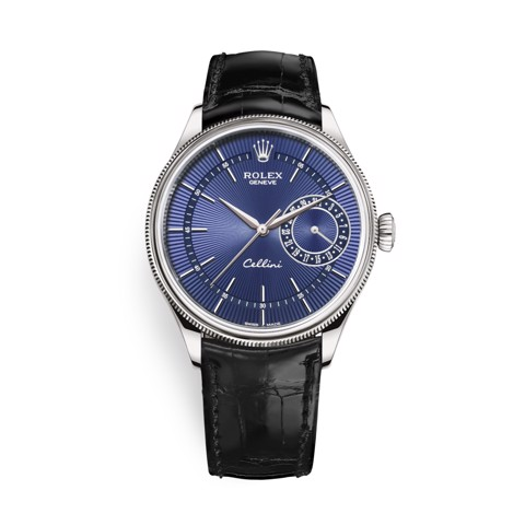 Rolex Cellini Date 39mm White Gold Blue Black 50519-0013