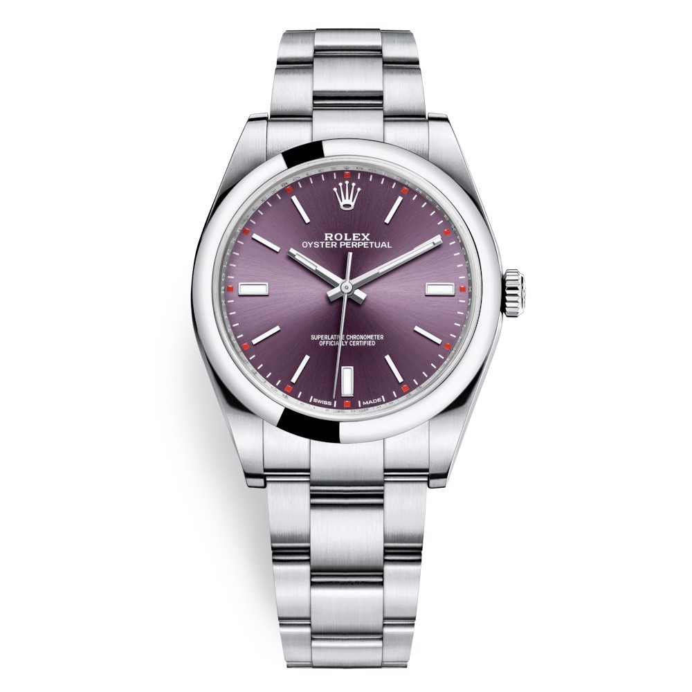 Rolex Oyster Perpetual 39mm Red Grape Oyster 114300-0002