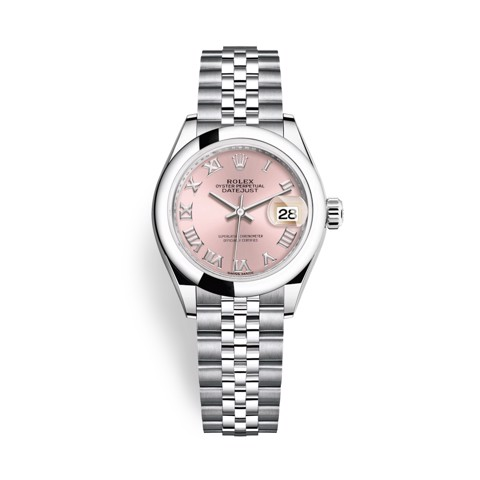 Rolex Lady-Datejust 28mm Stainless Steel Pink 279160-0013