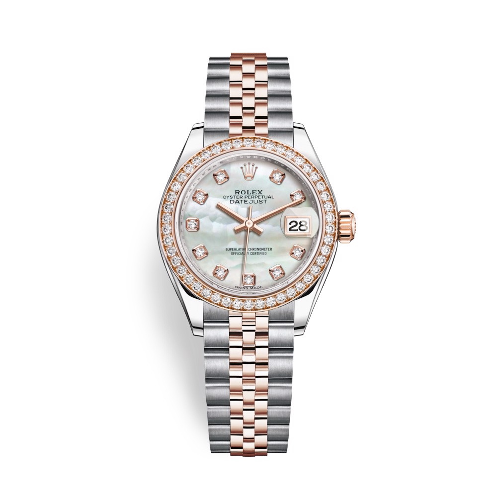 Rolex Lady-Datejust 28mm Stainless Steel and Everose Gold MOP 279381RBR-0013