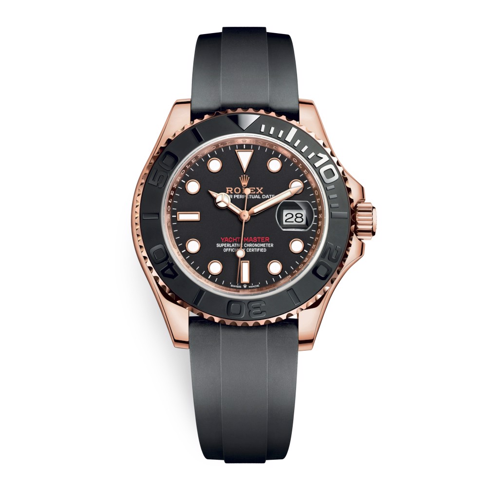 Rolex Yacht-Master 40mm Rose Gold Black 126655-0002