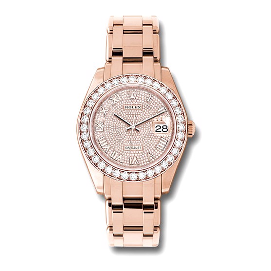 Rolex Pearlmaster 39mm Everose Diamond  86285 DPR