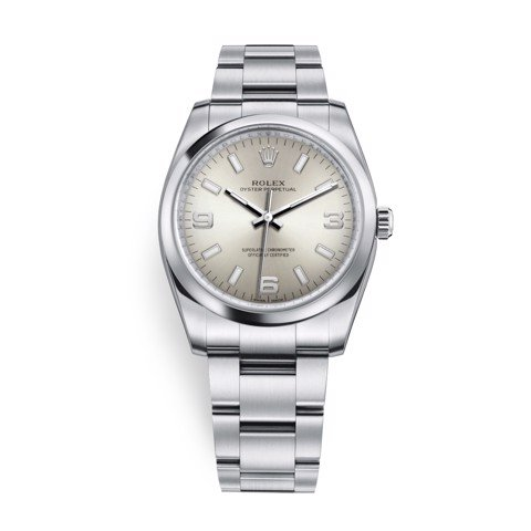 Rolex Oyster Perpetual 34mm Silver 114200-0019