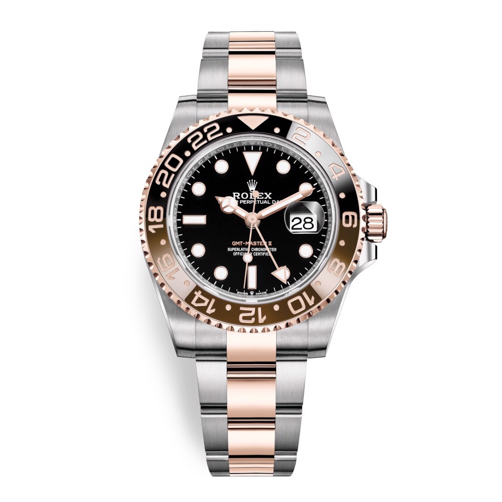 Rolex GMT Master II Stainless Steel & Rose Gold Black 126711CHNR-0002