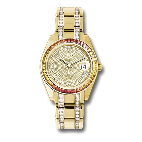 Rolex Pearlmaster 39mm Yellow Gold, Diamond and Sapphire  86348SAJOR DPDB