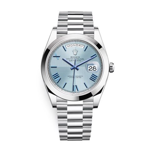 Rolex Day-Date 40mm Platinum Blue 228206-0001