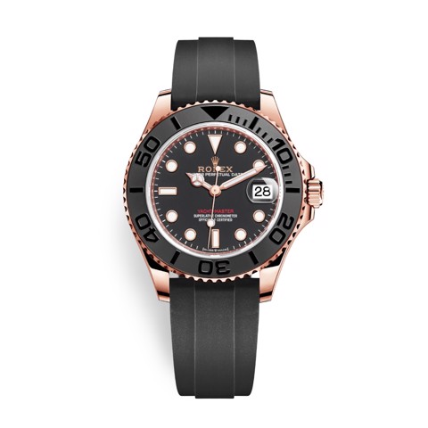 Rolex Yacht-Master 37mm Rose Gold Black 268655-0004