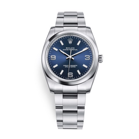 Rolex Oyster Perpetual 34mm BLue 114200-0014