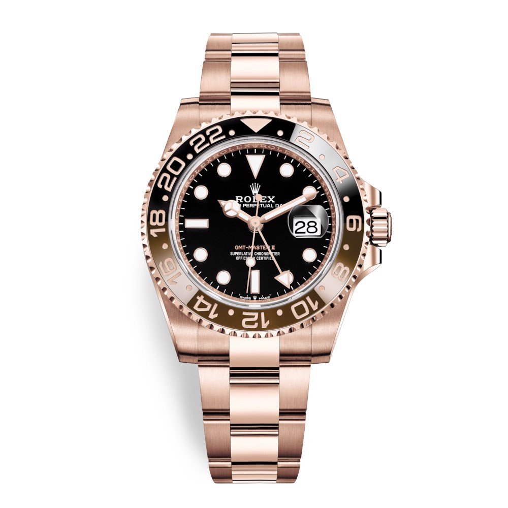 Rolex GMT Master II Everose Gold Black 126715CHNR-0001