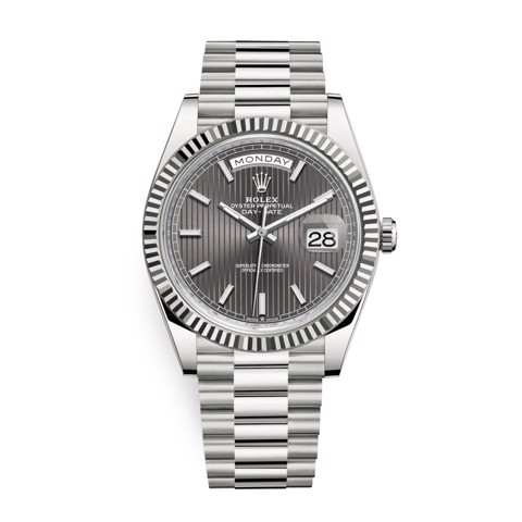 Rolex Day-Date 40mm White Gold Dark Rhodium 228239-0002